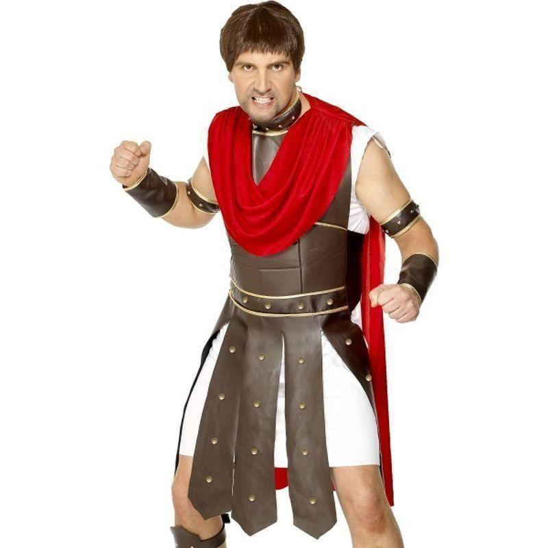 Centurion Costume Adult Brown/red - Legends & Myth Mad Fancy Dress