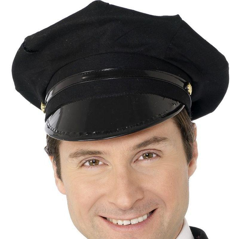 Chauffeur Hat Adult Black - Heroes & Role Model Mad Fancy Dress