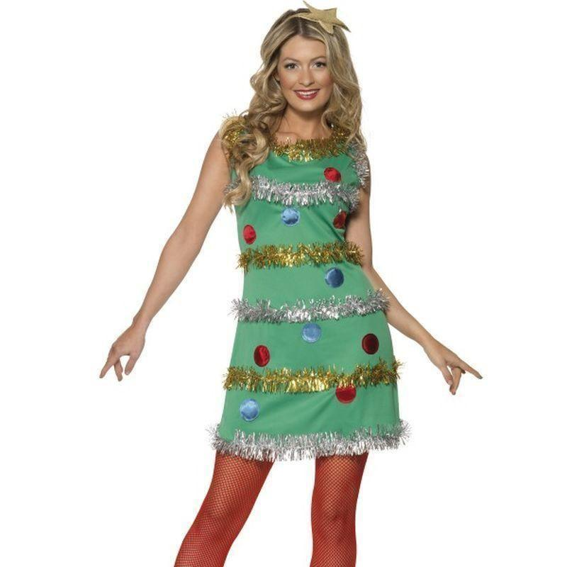Christmas Tree Costume Adult Green - Christmas Costumes For Women Mad Fancy Dress