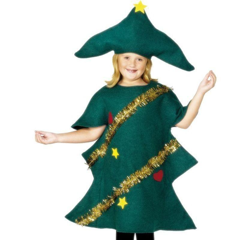 Christmas Tree Costume Kids Green - Childrens Christmas Costumes Mad Fancy Dress