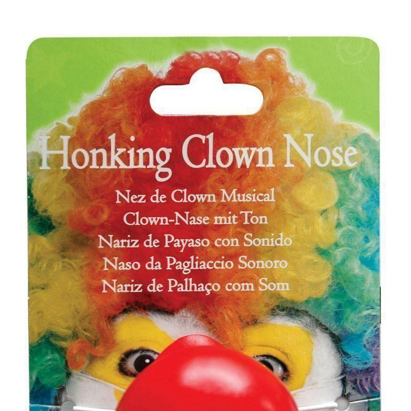 Clown Nose Honking |Miscellaneous Disguises| Unisex One Size - Miscellaneous Disguises Mad Fancy Dress