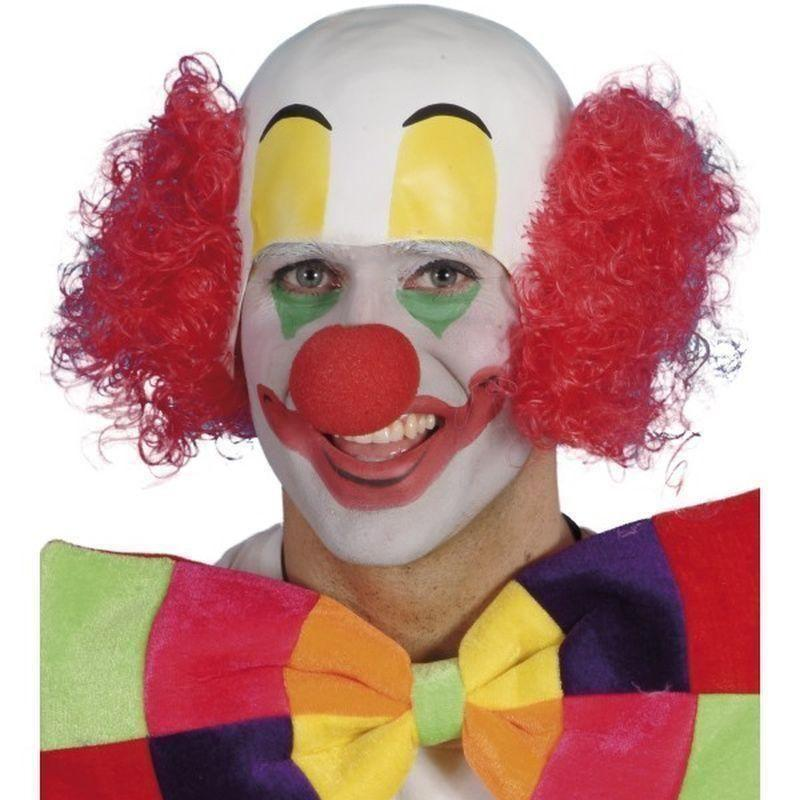 Clown Rubber Top Wig Adult Red - Comedy & Clown Mad Fancy Dress