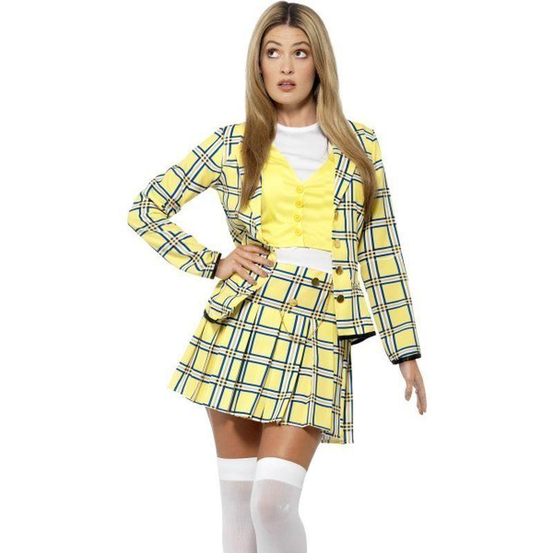 Clueless Cher Costume Adult Yellow - Clueless Licensed Fancy Dress Mad Fancy Dress