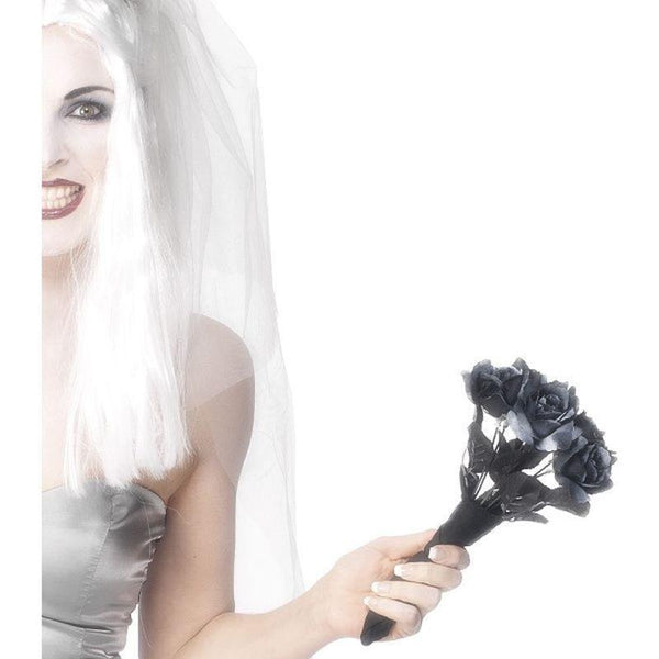Corpse Bride Bouquet Adult Black - Halloween Costumes & Accessories Mad Fancy Dress