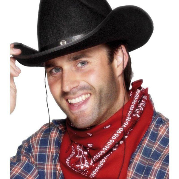 Cowboy Bandana Adult Red - Cowboys & Indians Mad Fancy Dress