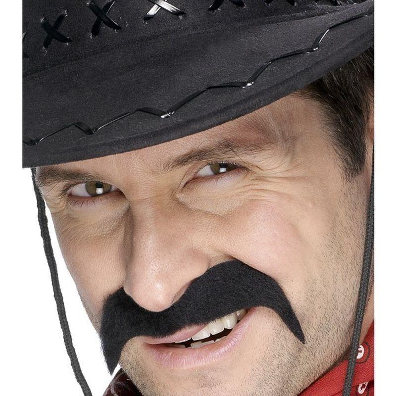 Cowboy Tash Adult Black - Cowboys & Indians Mad Fancy Dress