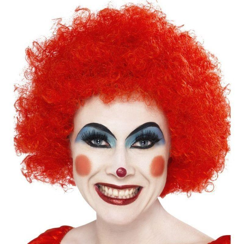 Crazy Clown Wig Adult Red - Smiffys Wigs Mad Fancy Dress