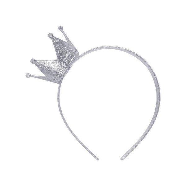 Crown Headband Silver |Costume Accessories| Female One Size - Costume Accessories Mad Fancy Dress