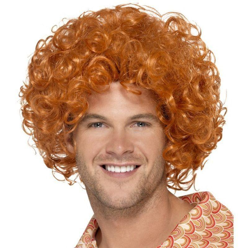 Curly Afro Wig Adult Ginger - 70S Disco Mad Fancy Dress