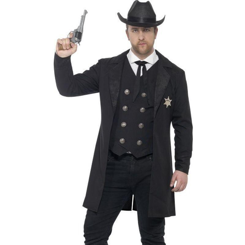 Curves Sheriff Costume Adult Black - Cowboys & Indians Mad Fancy Dress