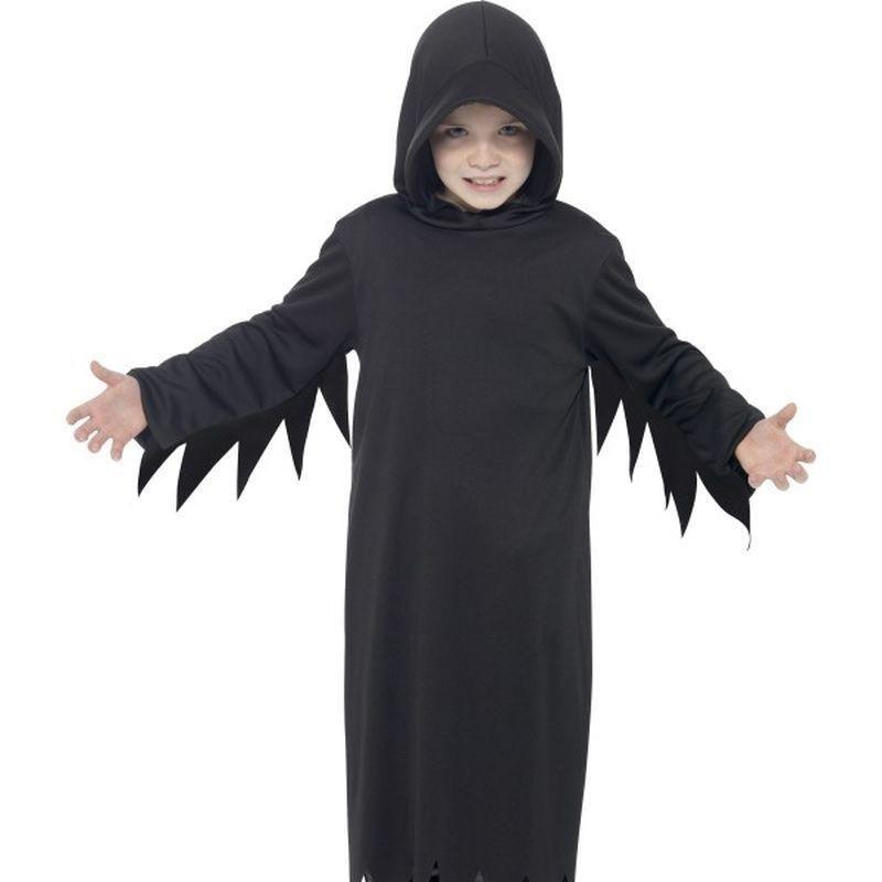 Dark Reaper Costume Kids Black - Halloween Costumes & Accessories Mad Fancy Dress
