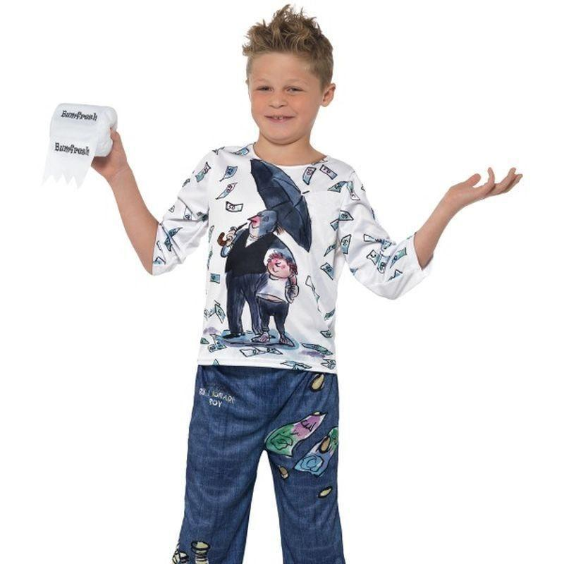 David Walliams Deluxe Billionaire Boy Costume Kids Blue/white - Boys Costumes Mad Fancy Dress