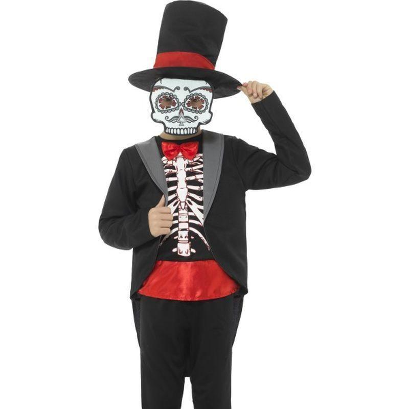 Day Of The Dead Boy Costume Kids Black - Halloween Costumes & Accessories Mad Fancy Dress
