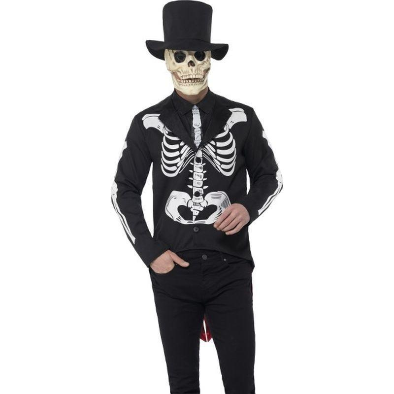 Day Of The Dead Se±Or Skeleton Costume Adult Black - Around The World Mad Fancy Dress