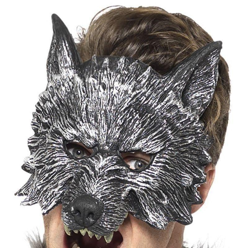 Deluxe Big Bad Wolf Mask Adult Grey - Faries Wings & Wands Mad Fancy Dress
