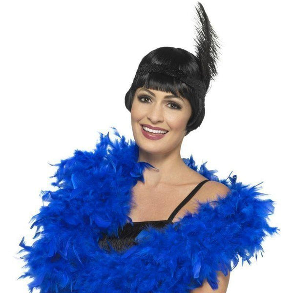 Deluxe Boa Adult Blue - 20S Razzle Mad Fancy Dress