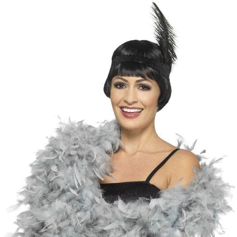 Deluxe Boa Adult Silver - 20S Razzle Mad Fancy Dress