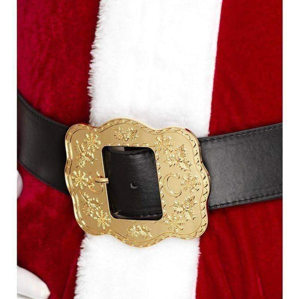 Deluxe Santa Belt Adult Black - Christmas Costumes For Men Mad Fancy Dress