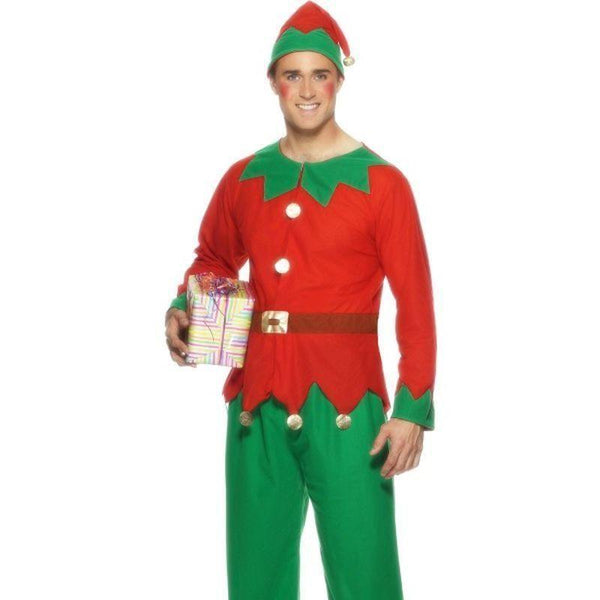 Elf Costume Adult Red/green - Christmas Costumes For Men Mad Fancy Dress