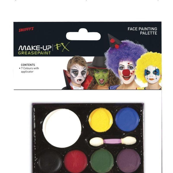 Face Painting Palette Adult 7 Colours - Cosmetics & Disguises Mad Fancy Dress