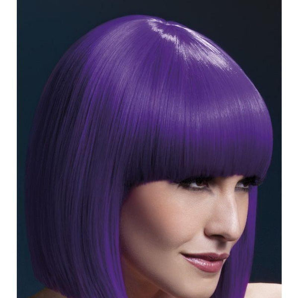 Fever Lola Wig Adult Purple - Ladies Wigs Mad Fancy Dress