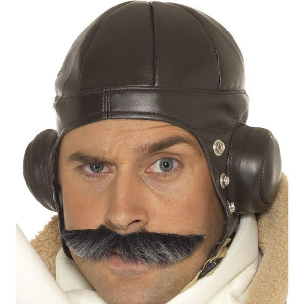 Flying Helmet Adult Brown - 1940S Wartime Fancy Dress Mad Fancy Dress