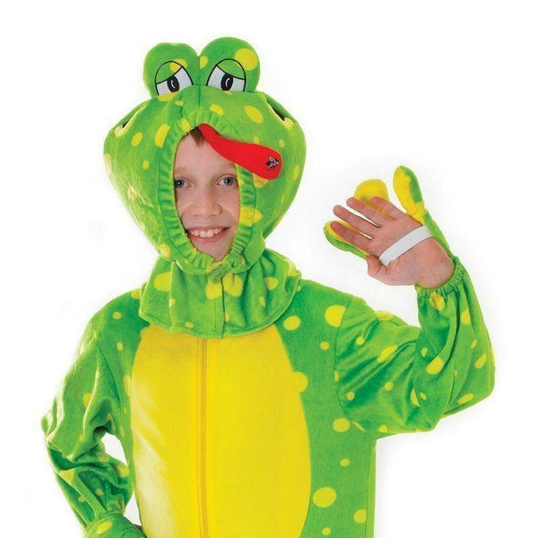 Frog Plush With Head |128Cm| Childrens Costumes Unisex 128Cm - Boys Costumes Mad Fancy Dress