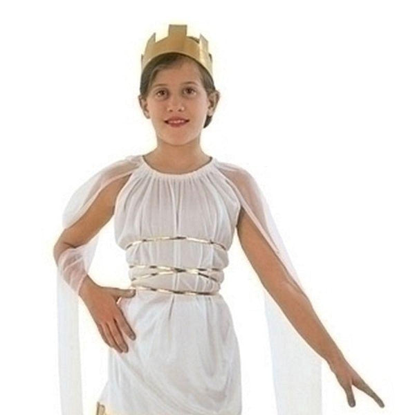 Girls Grecian Budget |Large| Childrens Costumes Female Large 9 12 Years Halloween Costume - Girls Costumes Mad Fancy Dress