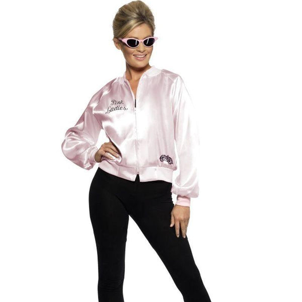 Grease Pink Ladies Jacket Adult Pink - Grease Licensed Fancy Dress Mad Fancy Dress