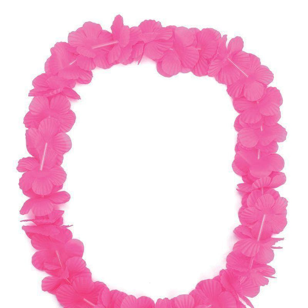 Hawaiian Leis Pink |Costume Accessories| Unisex Dozen - Costume Accessories Mad Fancy Dress