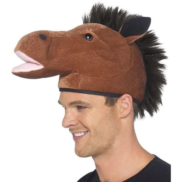 Horse Hat Adult Brown - Adult Animal Mad Fancy Dress