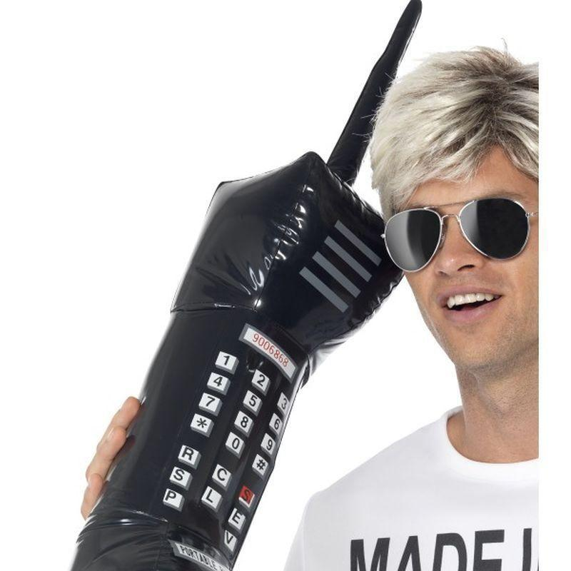 Inflatable Retro Mobile Phone Adult Black - 1980S Mad Fancy Dress