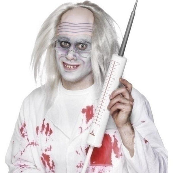 Jumbo Syringe Adult White - Hospital Mad Fancy Dress