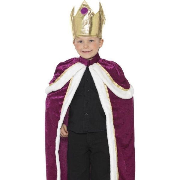 Kiddy King Costume Kids Purple/white - Childrens Christmas Costumes Mad Fancy Dress