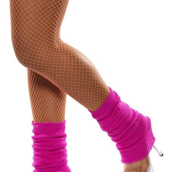 Legwarmers Adult Hot Pink - 1980S Mad Fancy Dress
