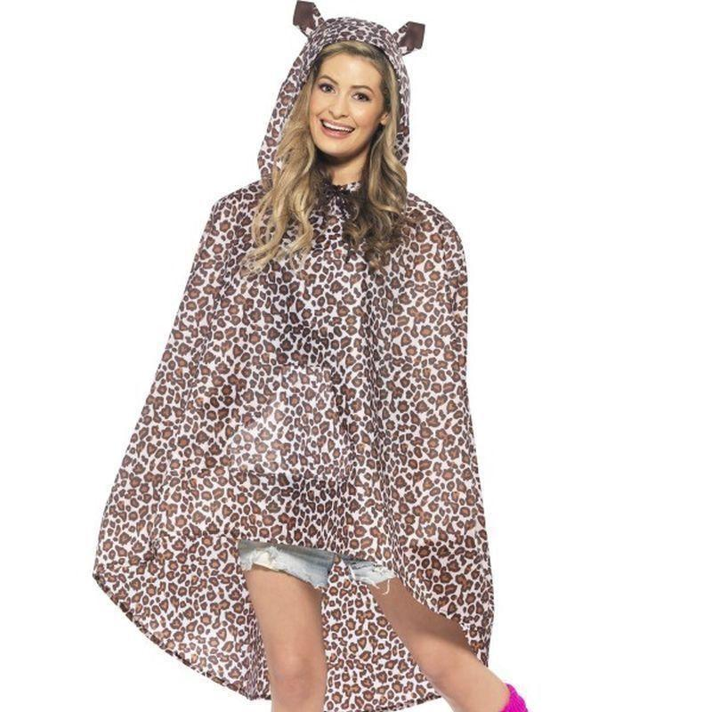 Leopard Party Poncho Adult Leopard - Adult Animal Mad Fancy Dress