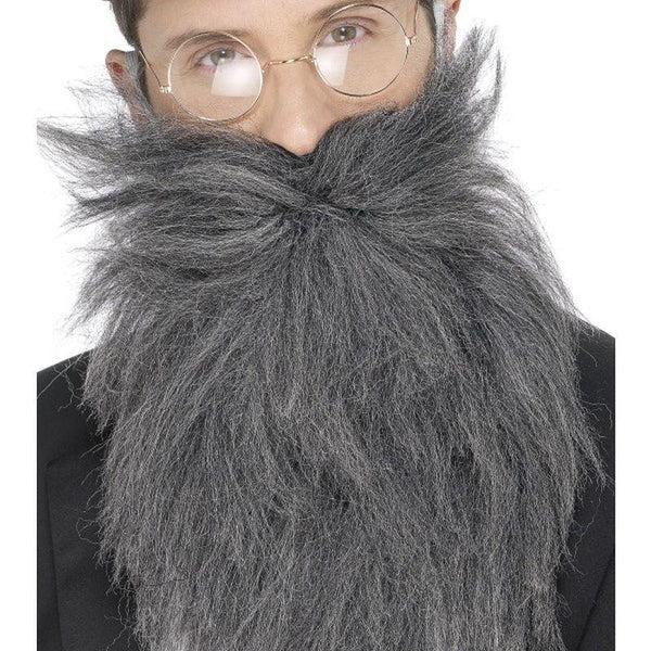Long Beard & Tash Adult Grey - Cosmetics & Disguises Mad Fancy Dress