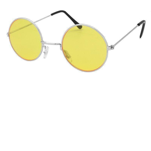 Mens Lennon Glasses Yellow |Costume Accessories| Male One Size Halloween Costume - Costume Accessories Mad Fancy Dress
