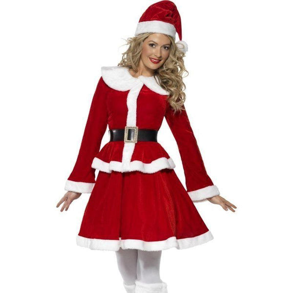 Miss Santa Costume Adult Red/white - Christmas Costumes For Women Mad Fancy Dress