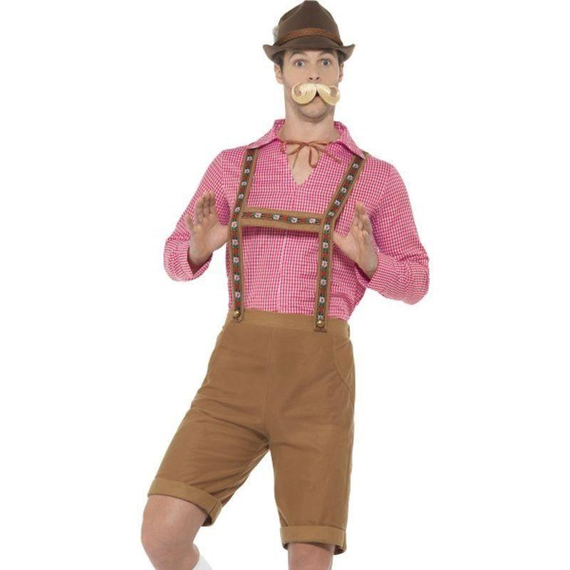 Mr Bavarian Costume Adult Red/brown - Oktoberfest Fancy Dress Mad Fancy Dress