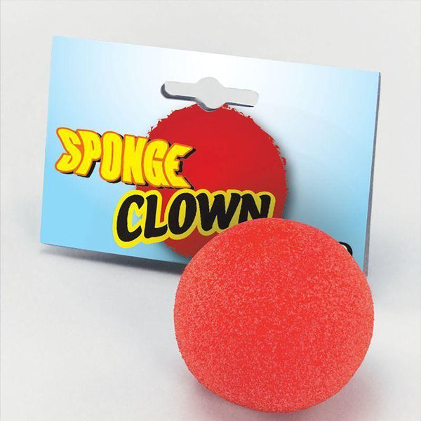 Nose Clown Red Sponge |Miscellaneous Disguises| Unisex Dozen - Miscellaneous Disguises Mad Fancy Dress