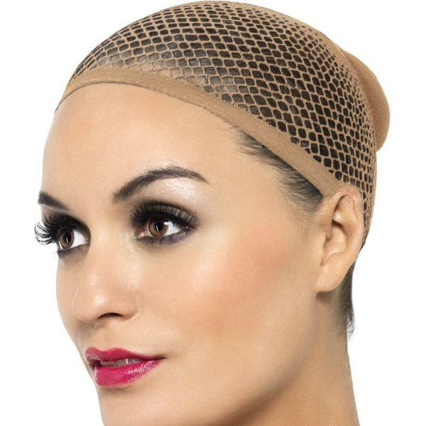 Nude Mesh Wig Cap Adult Nude - Ladies Wigs Mad Fancy Dress