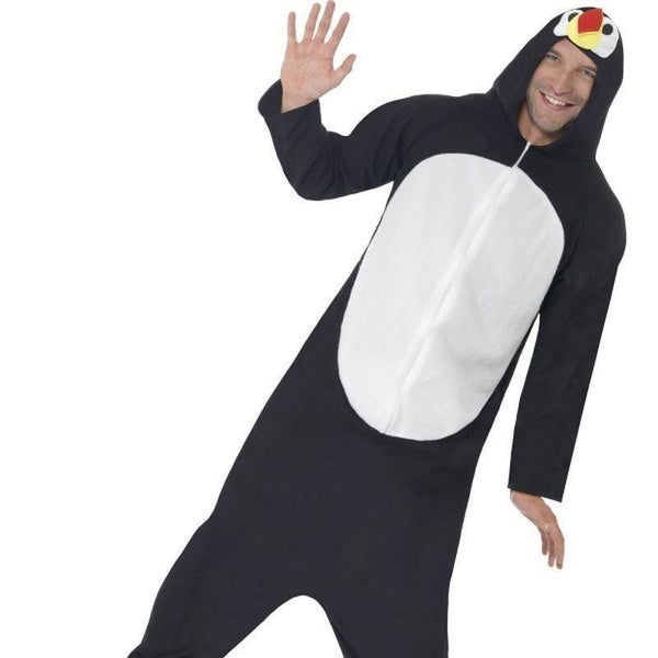 Penguin Costume Adult Black - Adult Animal Mad Fancy Dress