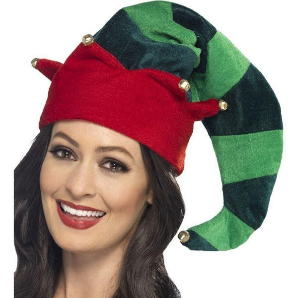 Plush Elf Hat Adult Green - Christmas Costumes For Men Mad Fancy Dress