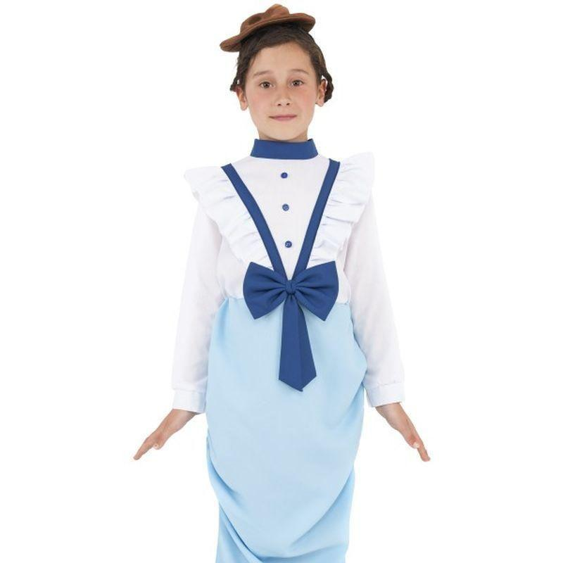 Posh Victorian Costume Kids Blue/white - Girls Costumes Mad Fancy Dress