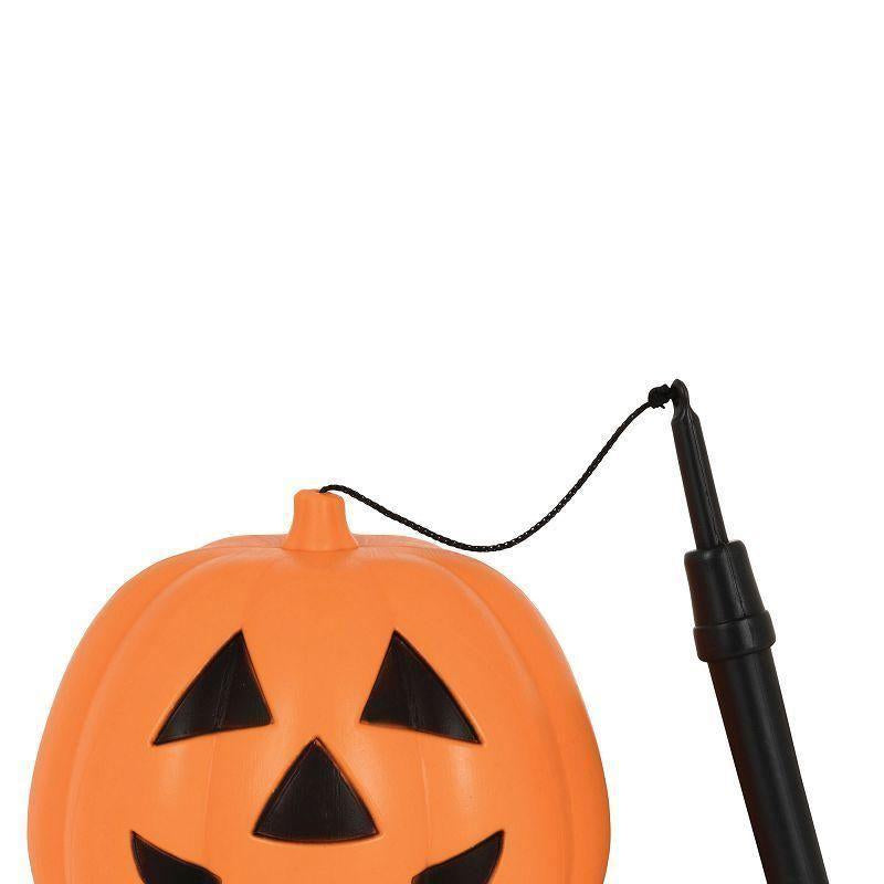 Pumpkin Lantern With Handle Medium B/o |Halloween Items| Unisex One Size - Halloween Costumes And Accessories Mad Fancy Dress