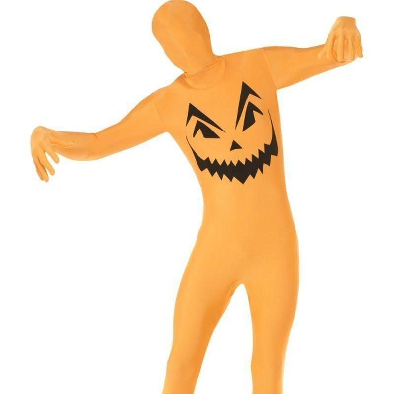 Pumpkin Second Skin Costume Adult Orange/black - Halloween Costumes & Accessories Mad Fancy Dress