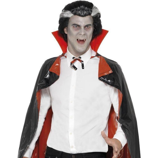 Pvc Reversible Vampire Cape Adult Black/red - Halloween Costumes & Accessories Mad Fancy Dress