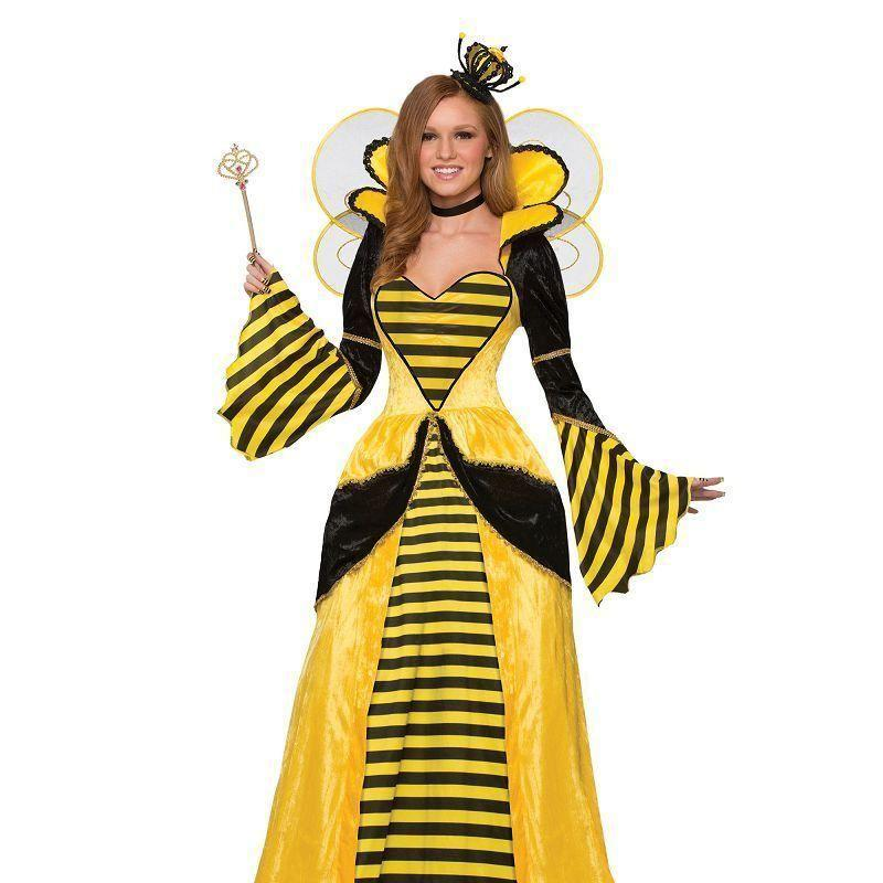 Queen Bee Costume |Adult Costumes| Uk Size 10 14 - Generic Ladies Costumes Mad Fancy Dress