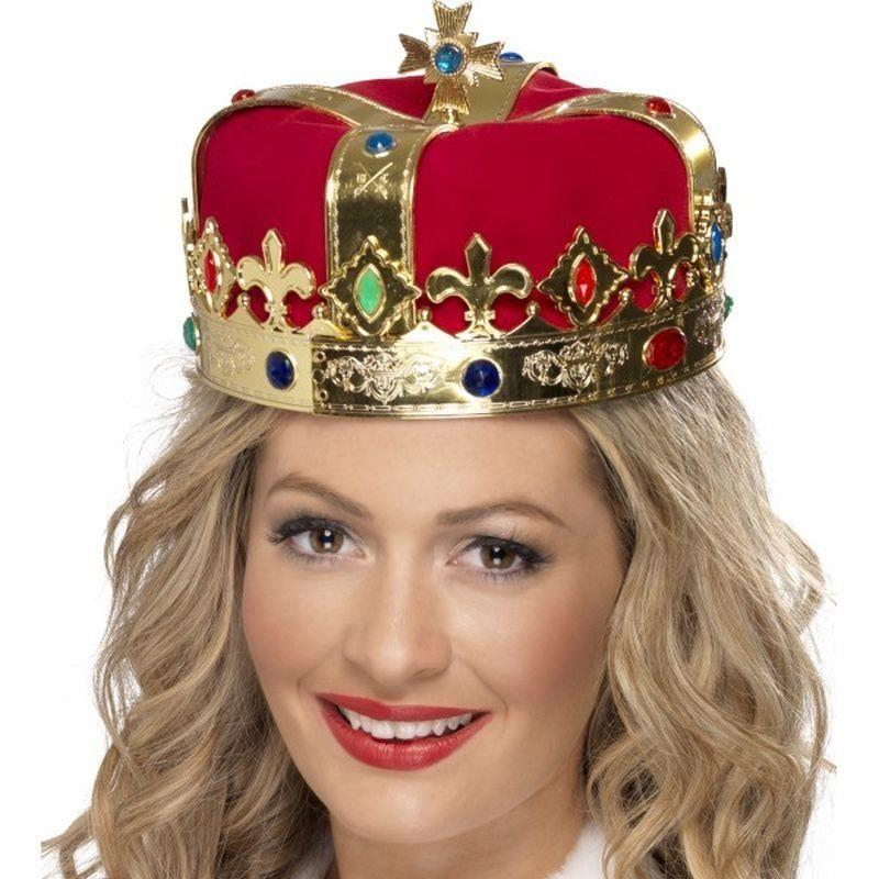 Queens Crown Adult Red - Historical Fancy Dress Mad Fancy Dress